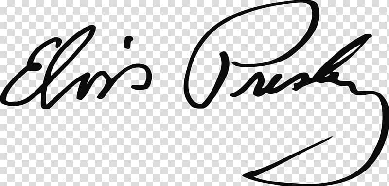 Presley signature autograph logo. Elvis clipart design