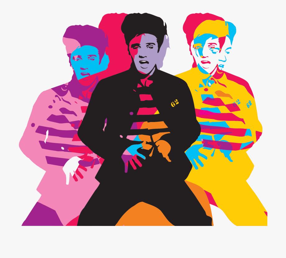 Elvis clipart design. Pop art modern photography