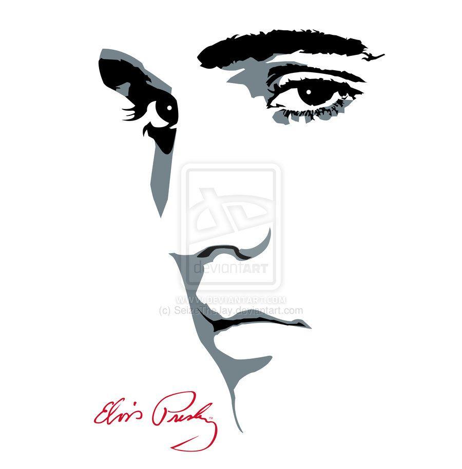Face silhouette pic source. Elvis clipart diy