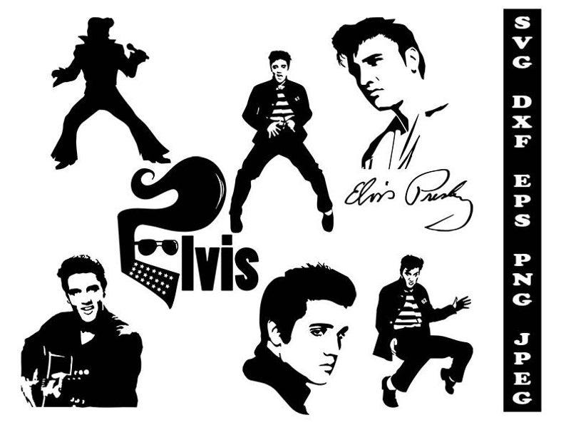 Elvis clipart diy. Presley svg celebrity dxf