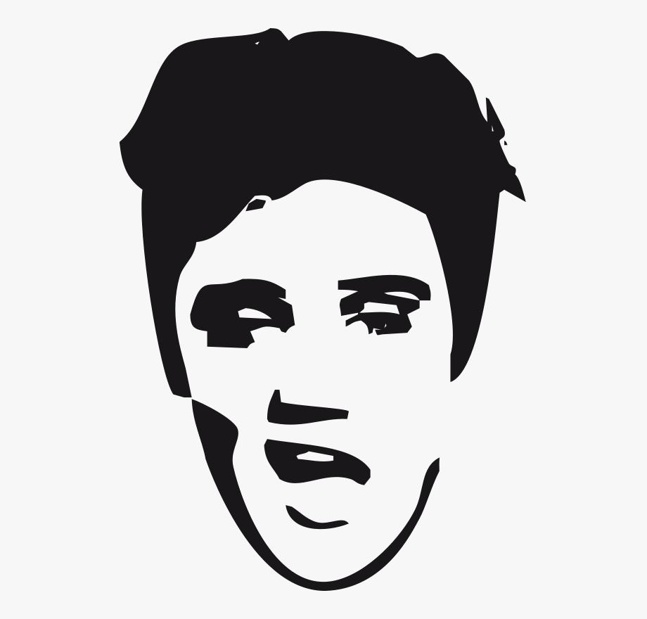 Elvis clipart easy. Face clip art presley