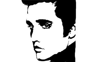 Presley drawing step by. Elvis clipart easy