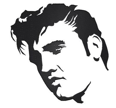 Elvis clipart embroidery. Presley design