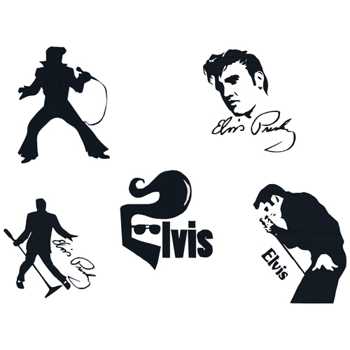 Elvis clipart embroidery. Set