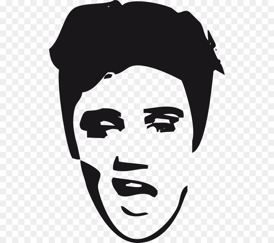 Mouth cartoon drawing transparent. Elvis clipart face