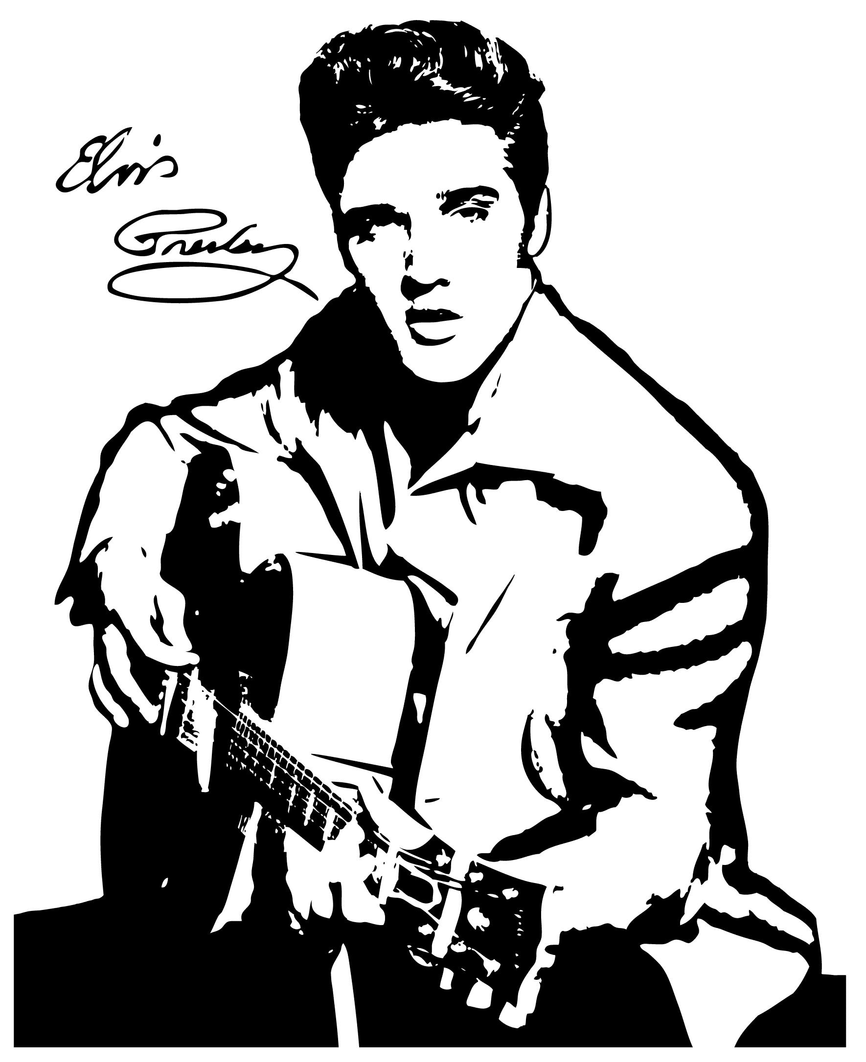 Image result for presley. Elvis clipart fan art