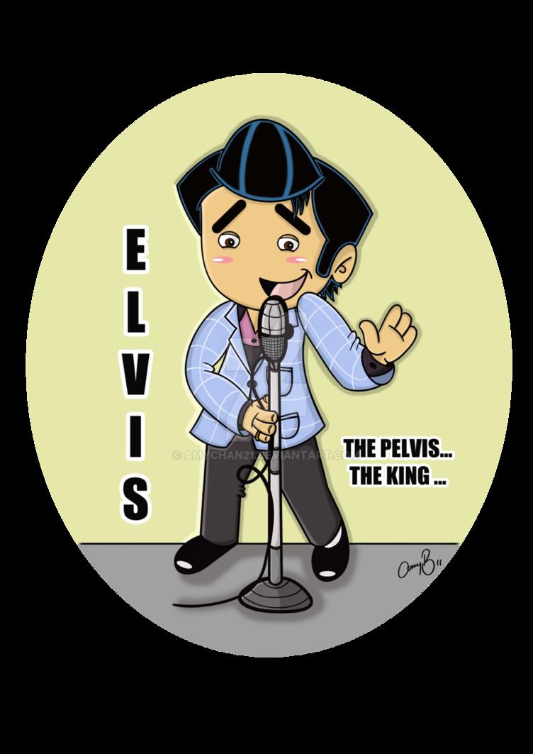 Elvis clipart fan art. Chibi by amychan on