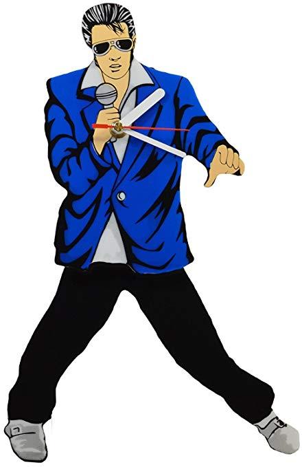 Incrediblegifts blue suit clock. Elvis clipart hip
