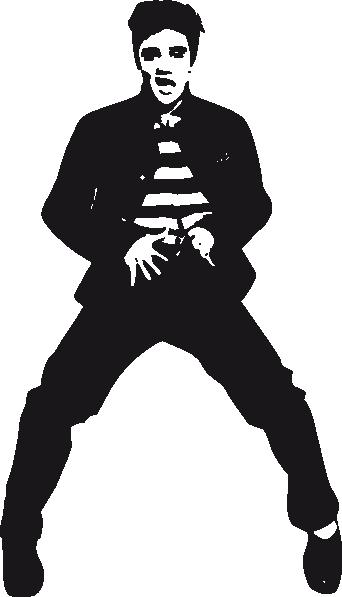 Presley dancing clip art. Elvis clipart logo