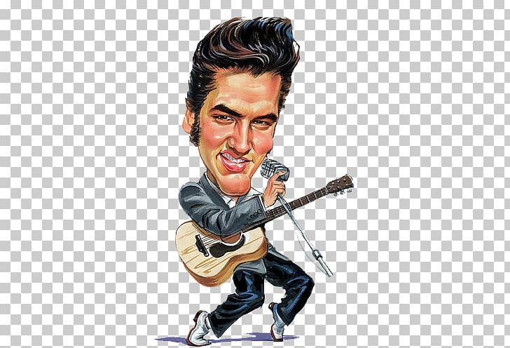 Presley caricature cartoon drawing. Elvis clipart musician