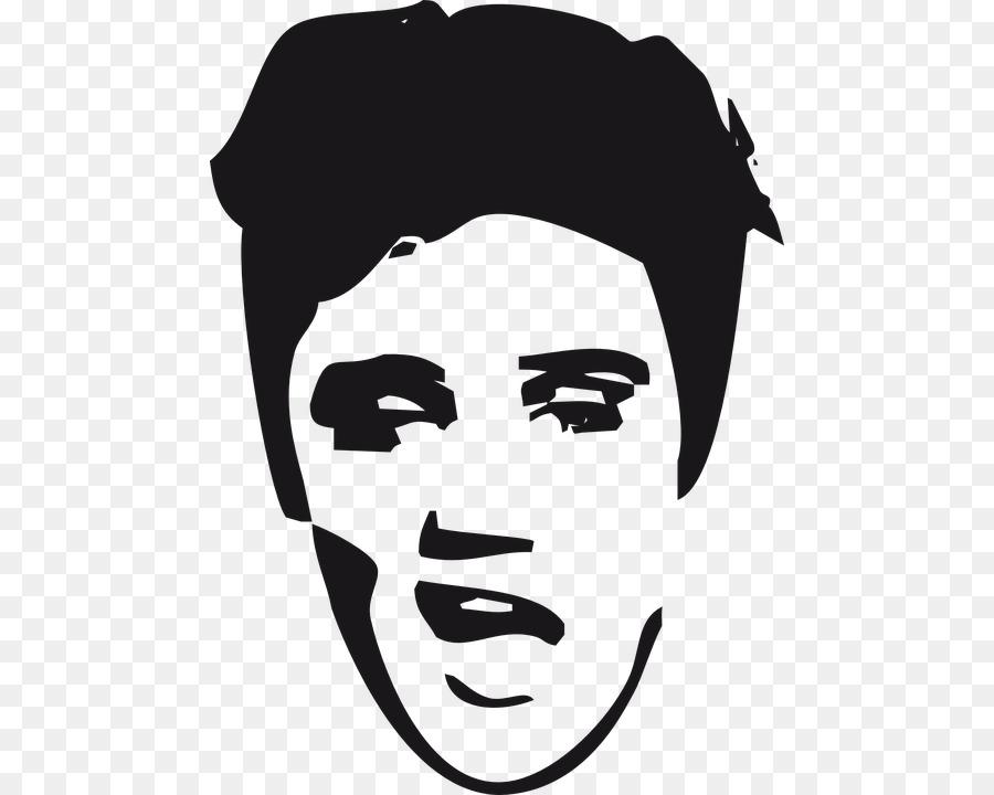 Hair logo png download. Elvis clipart outline