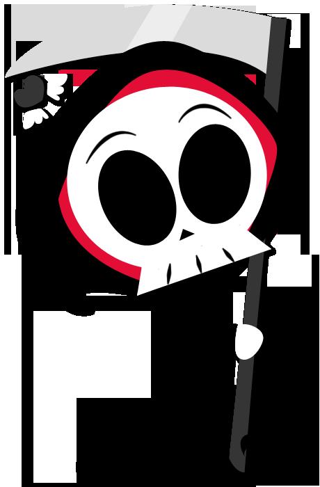 Chibi fied grim reaper. Elvis clipart pompadour