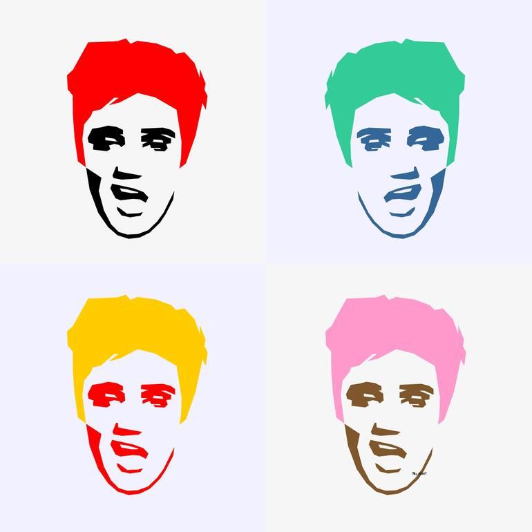 Style . Elvis clipart pop art