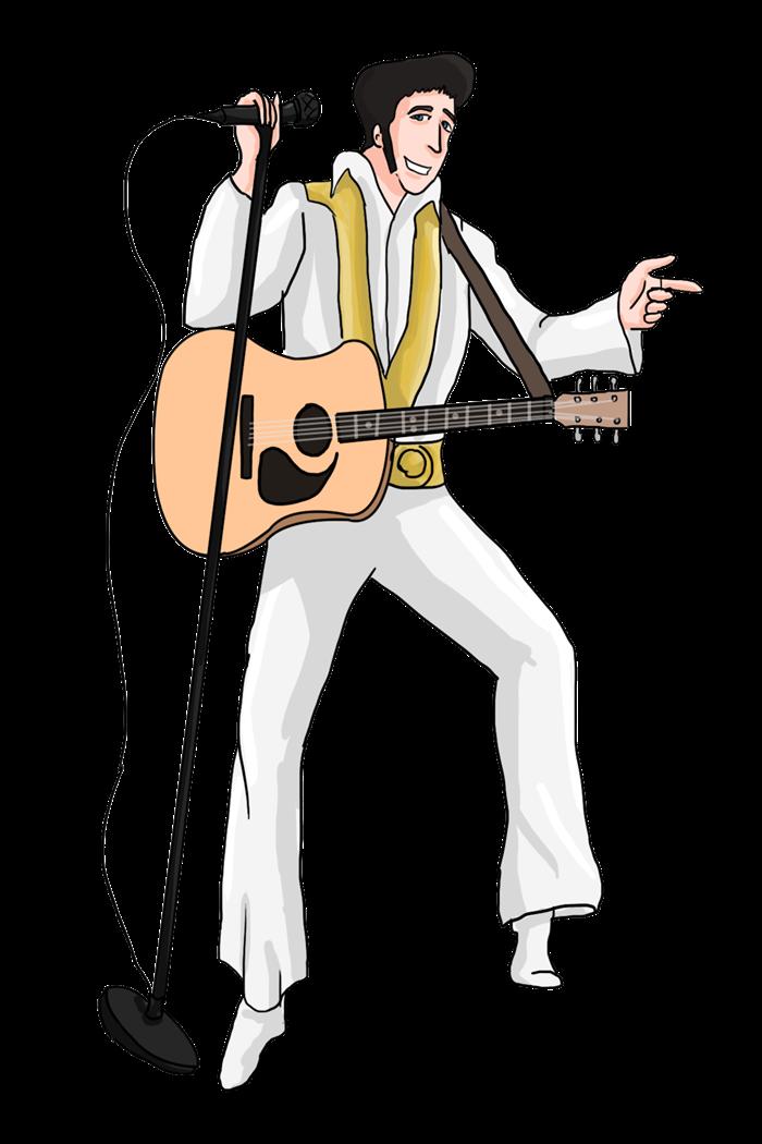 Elvis clipart portrait.  collection of presley