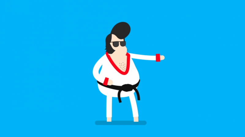 Elvis clipart project. Fat skillshare projects