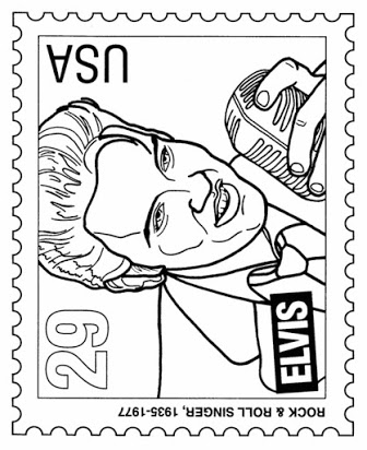 Elvis clipart sheet. Free coloring pages of