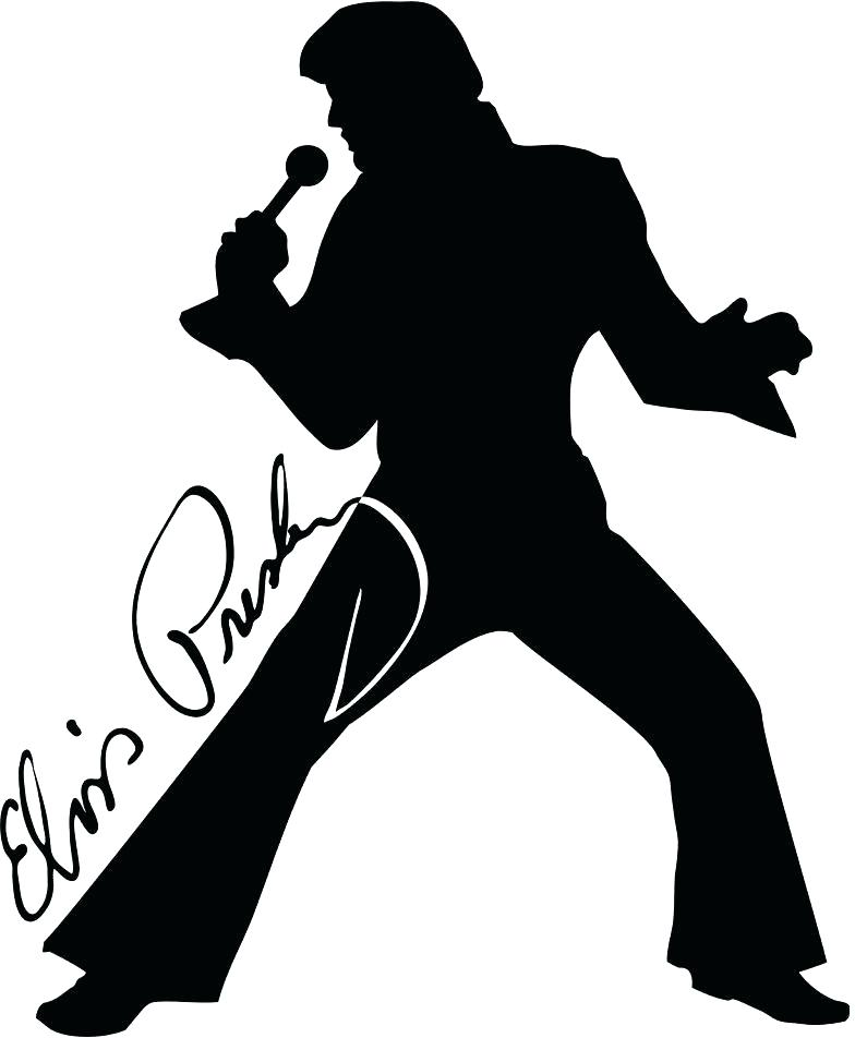 Line drawing free download. Elvis clipart sheet