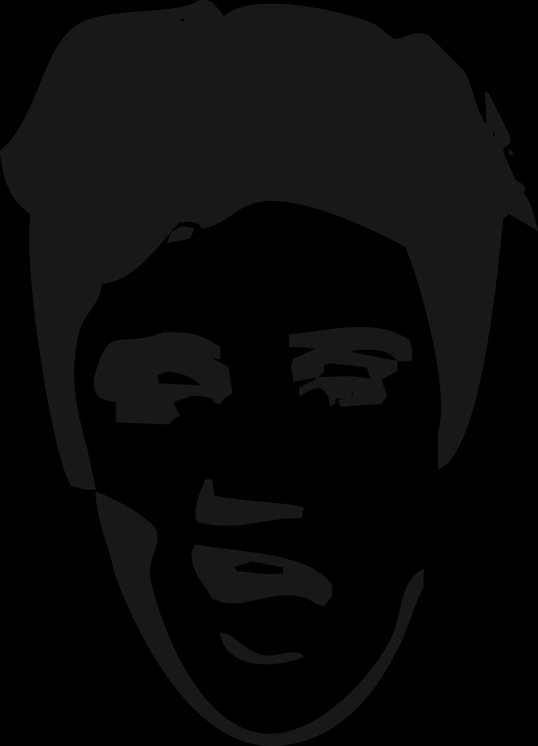 Face big image png. Elvis clipart sillouette