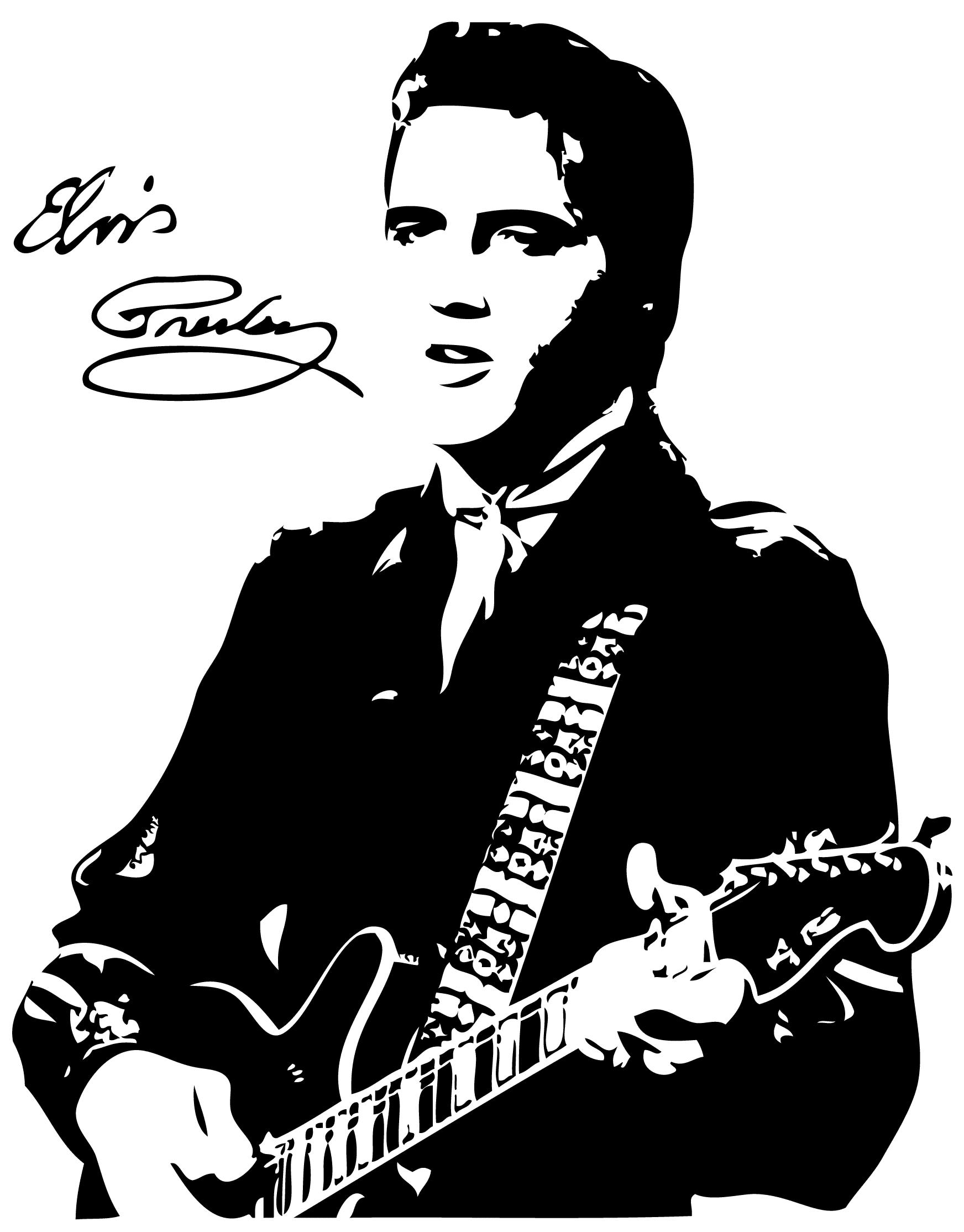 Elvis clipart sillouette. Free cliparts download clip