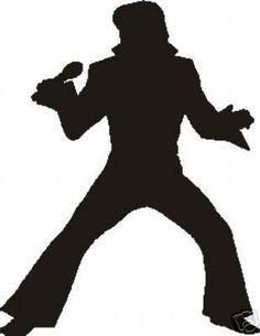 Elvis clipart sillouette. Silhouette presley birthday