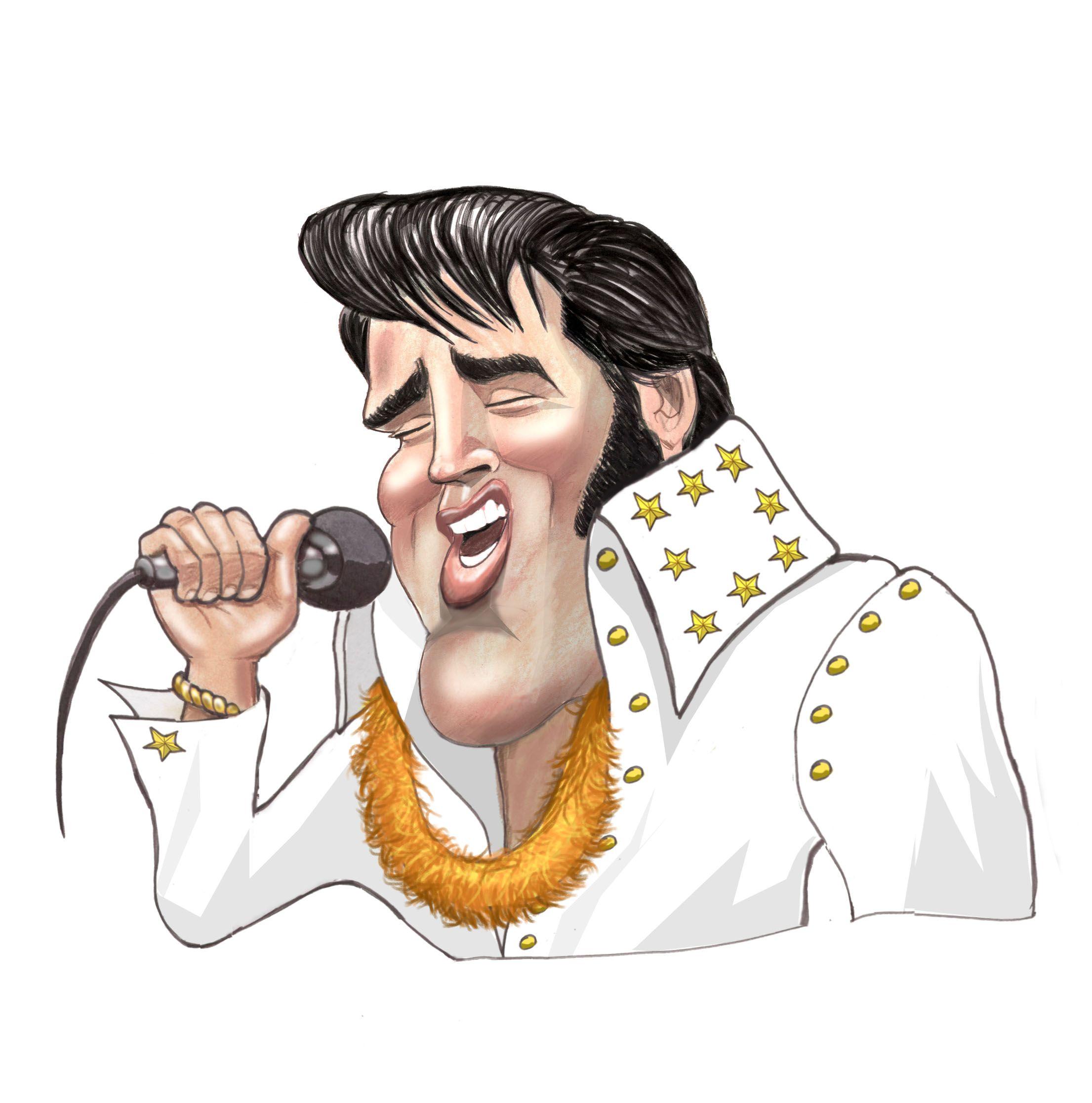 Presley wedding card google. Elvis clipart singing drawing