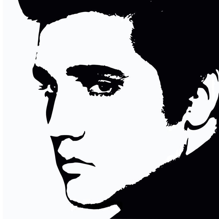 Silhouette stencils bing images. Elvis clipart stencil