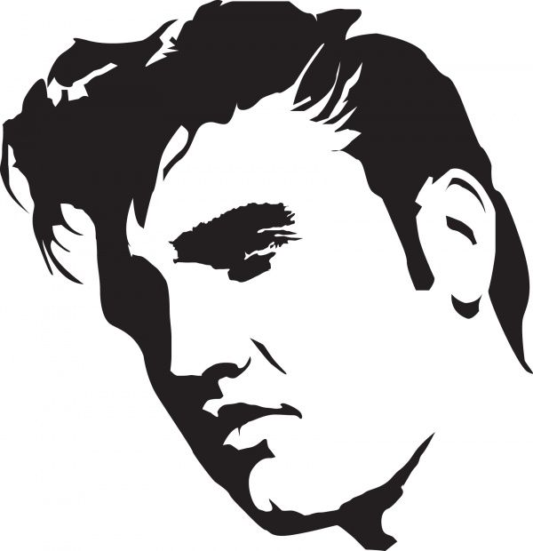 Pin by kim rodriguez. Elvis clipart stencil