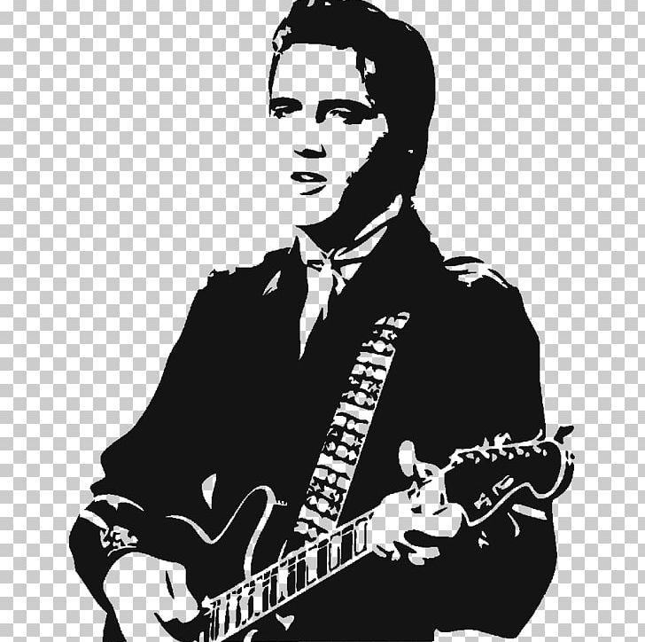 Presley mural wall decal. Elvis clipart stencil