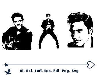 Elvis clipart svg. Etsy
