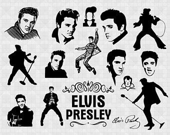 Elvis clipart svg. Presley etsy