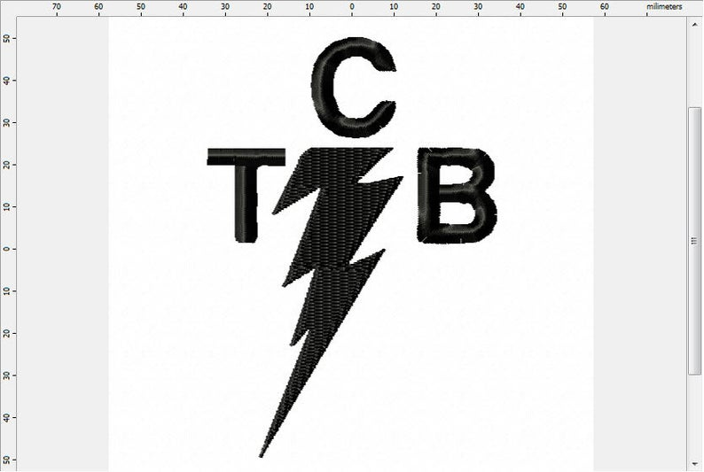 Band inspired logo embroidery. Elvis clipart tcb