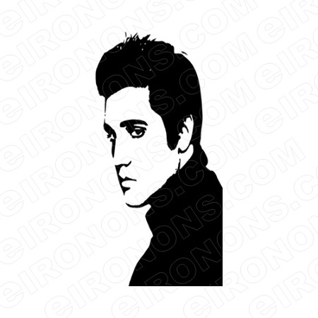 Elvis clipart transfer. Presley side view music