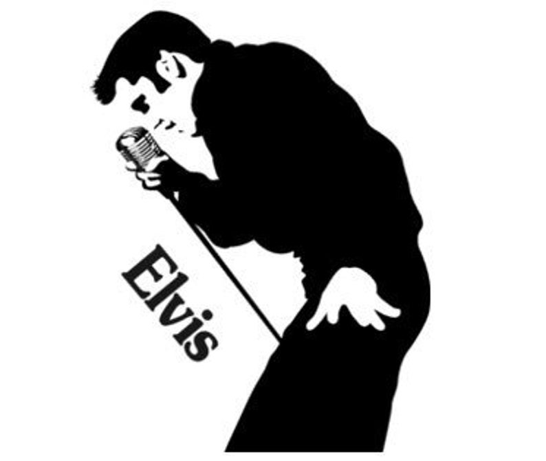 Presley decal the king. Elvis clipart wall