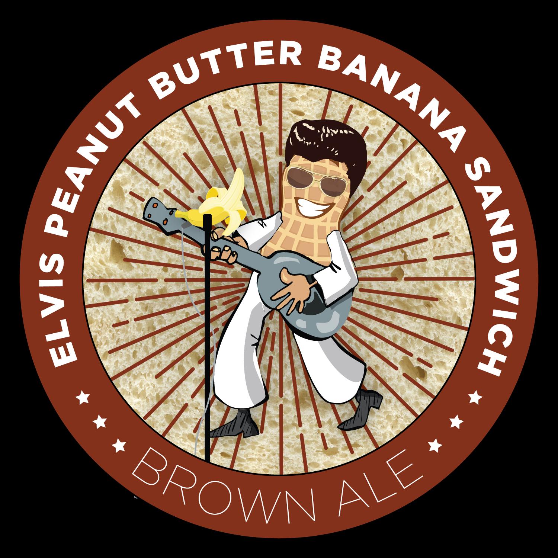 Elvis clipart wall. Peanut butter banana sandwich