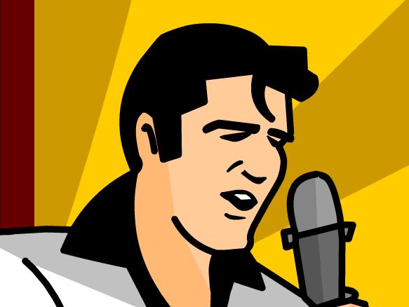 Elvis clipart word elvis presley. Brainpop