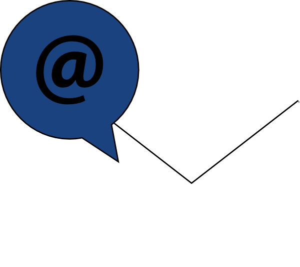 Email clipart blue email. Icon white w clip