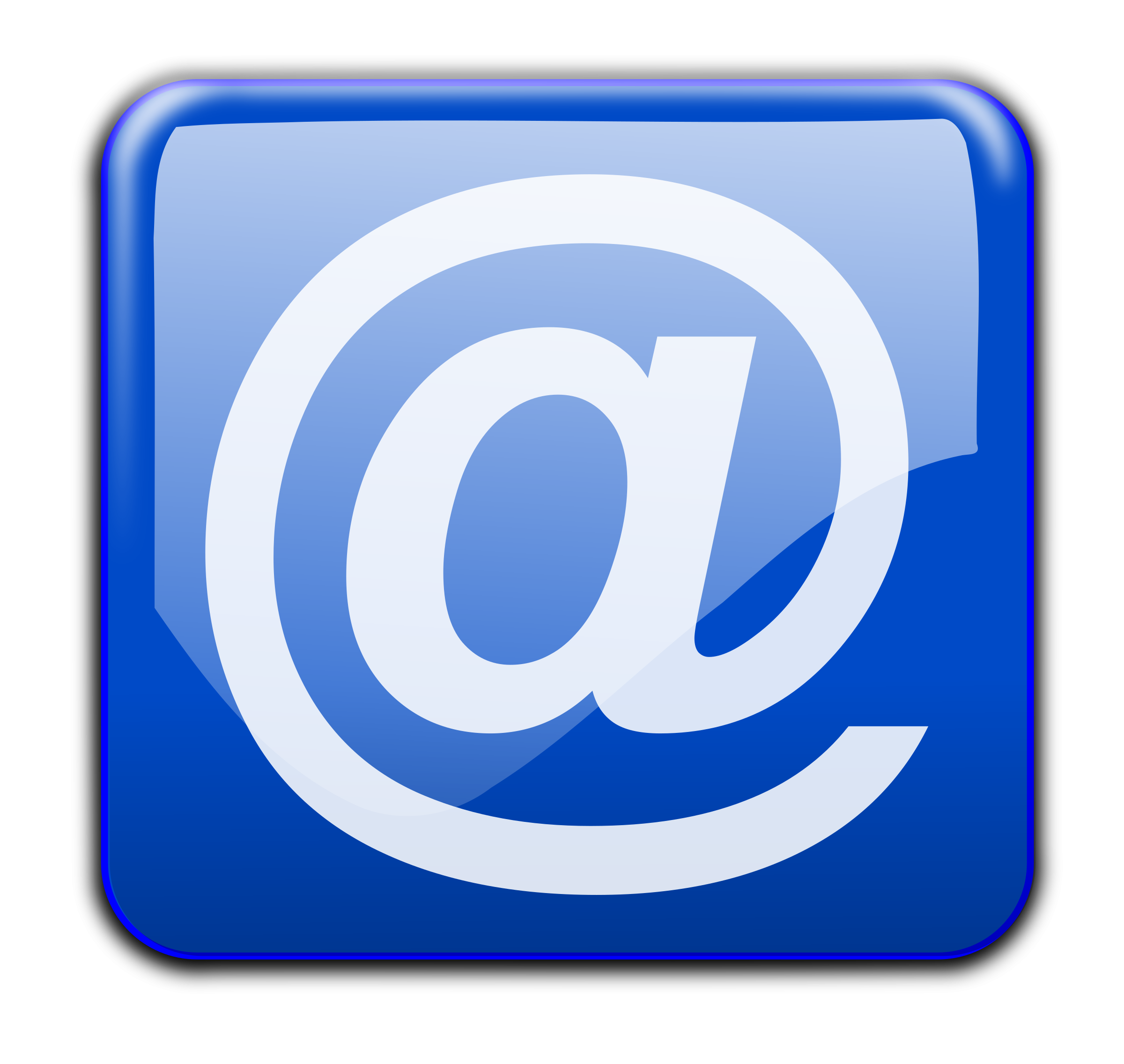 collection of high. Email clipart blue email