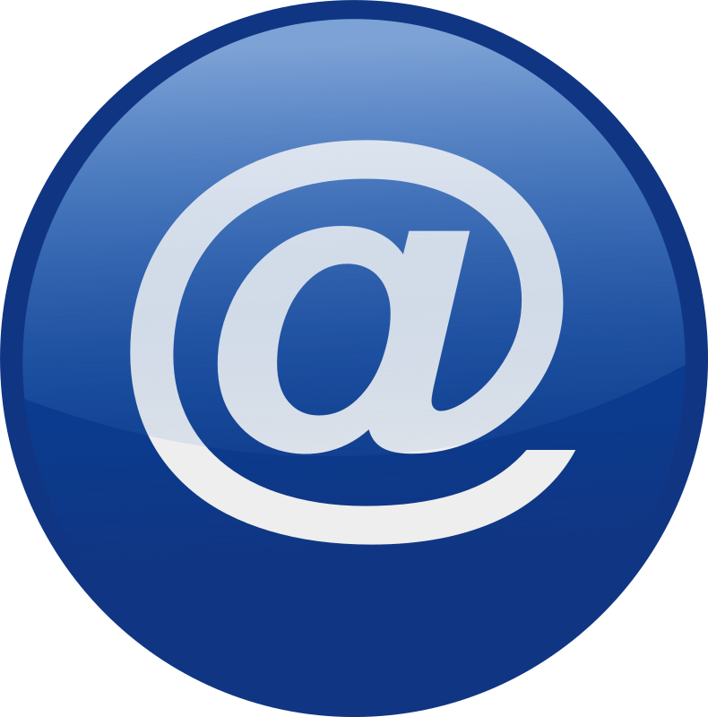 Medium image png . Email clipart blue email