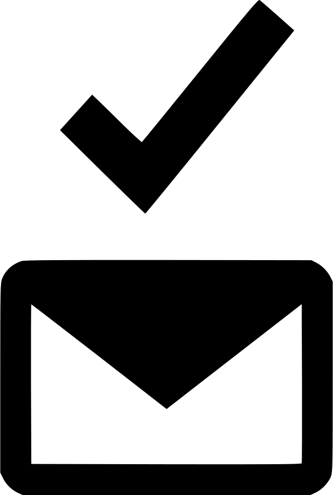 Email clipart certified mail. Checkmark ok approved sent
