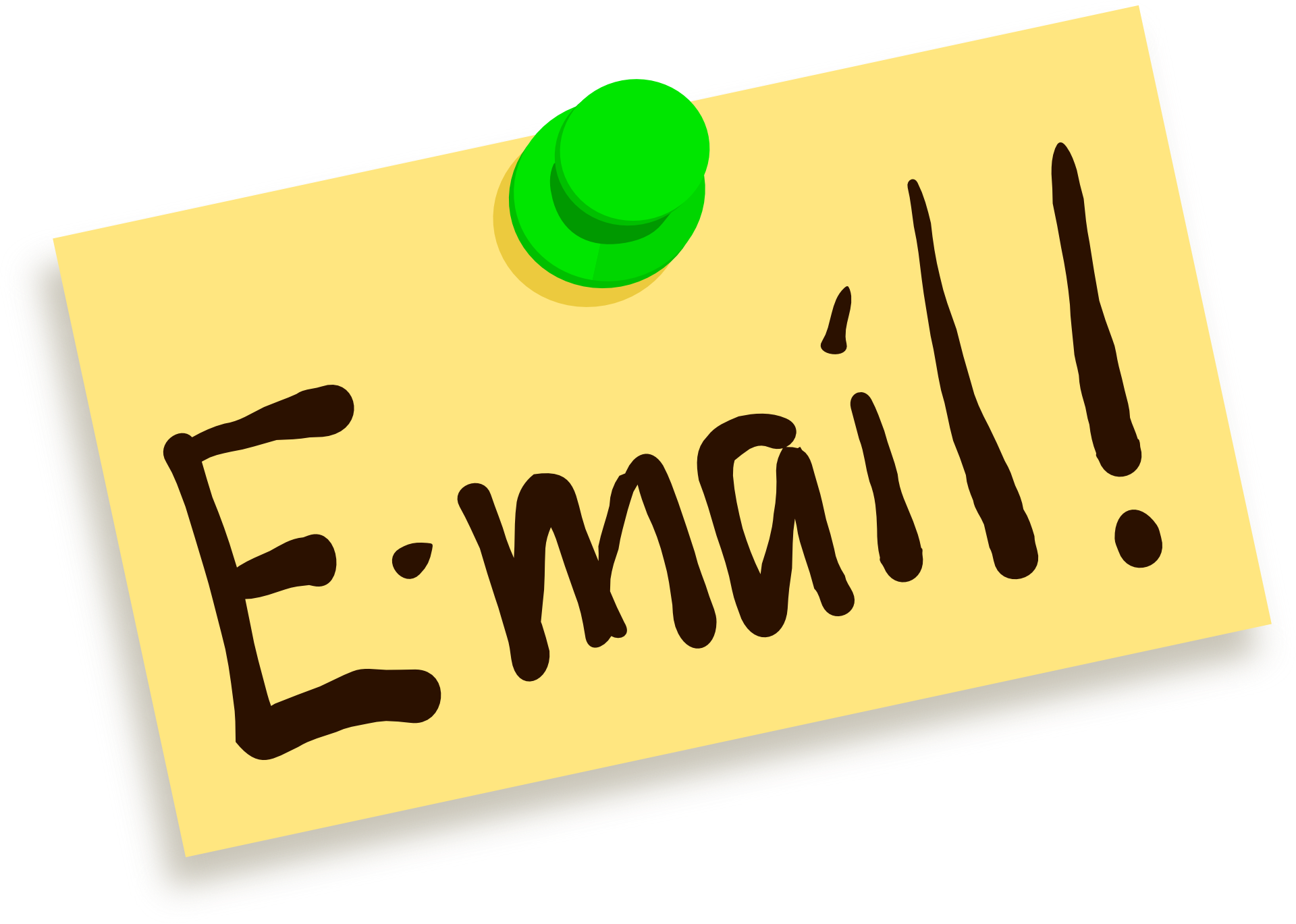 How to send large. Email clipart email address