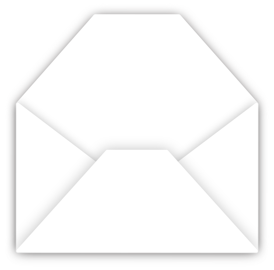 envelope clipart black and white
