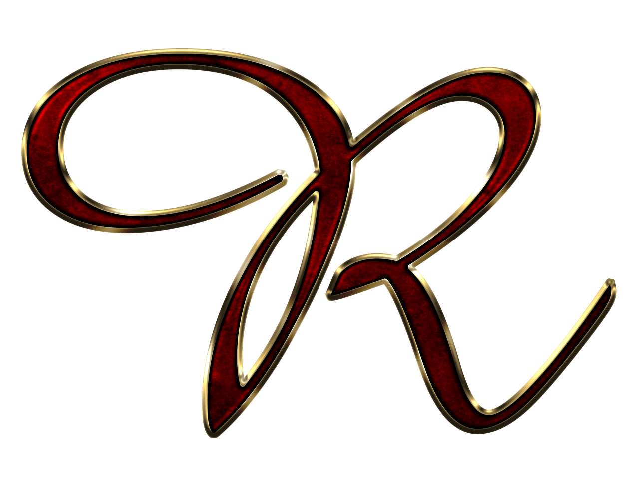 R clipart red. Capital letter transparent png