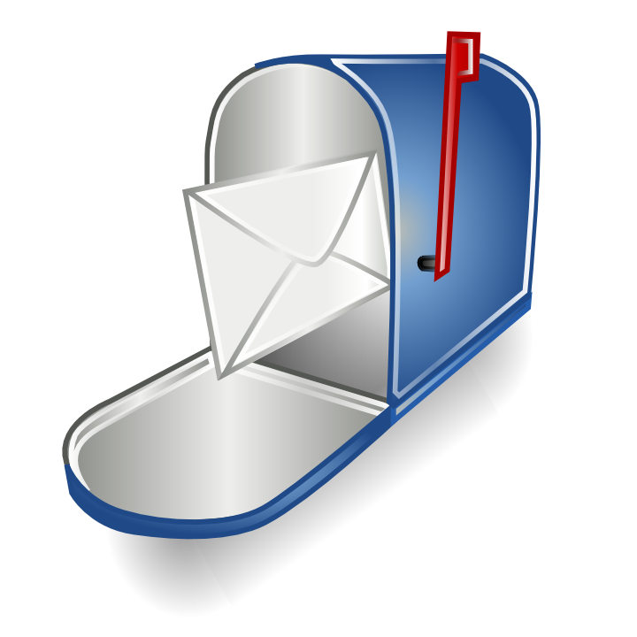 Mail box icons free. Mailbox clipart flat