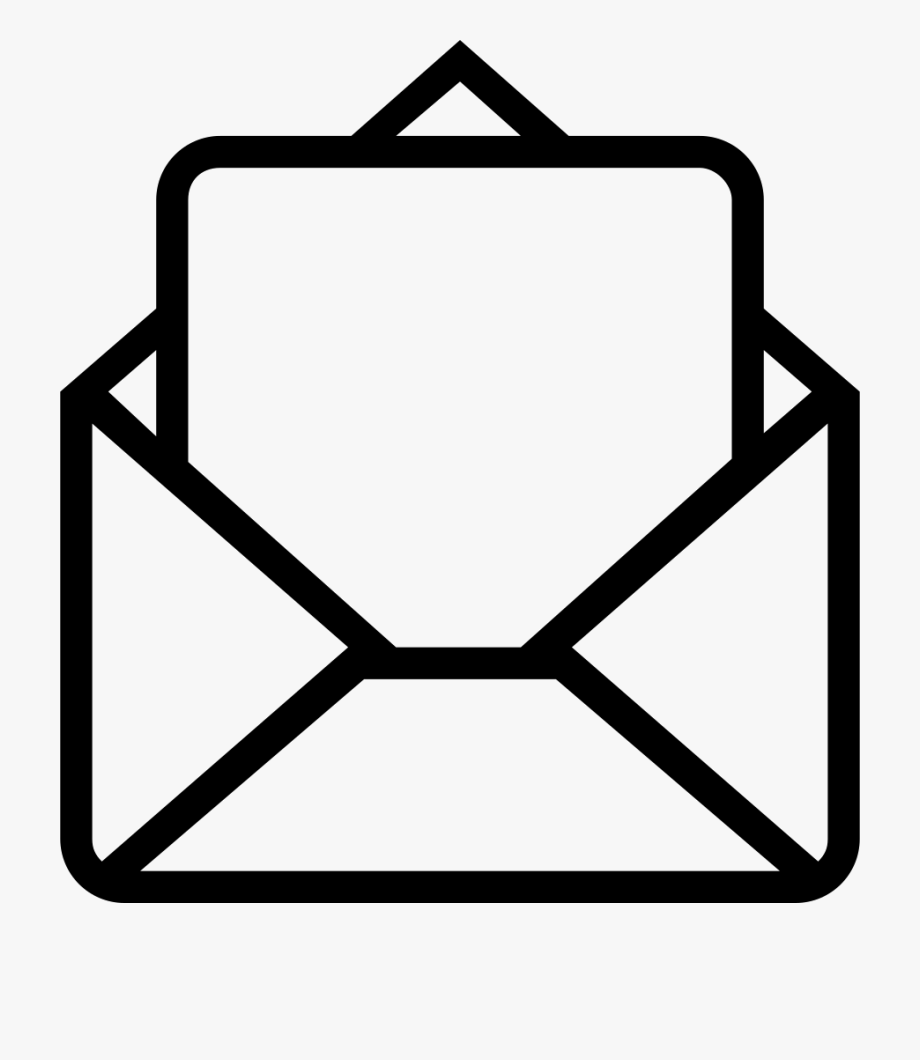 Mail clipart opened envelope. Email icon png