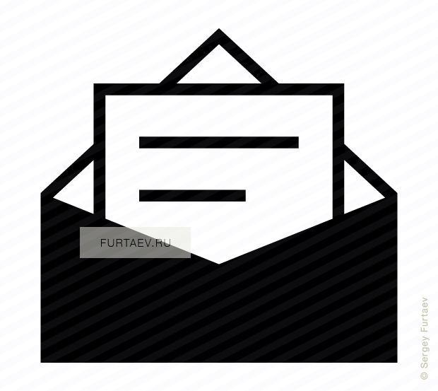 Mail clipart opened envelope. Letter in vector icon