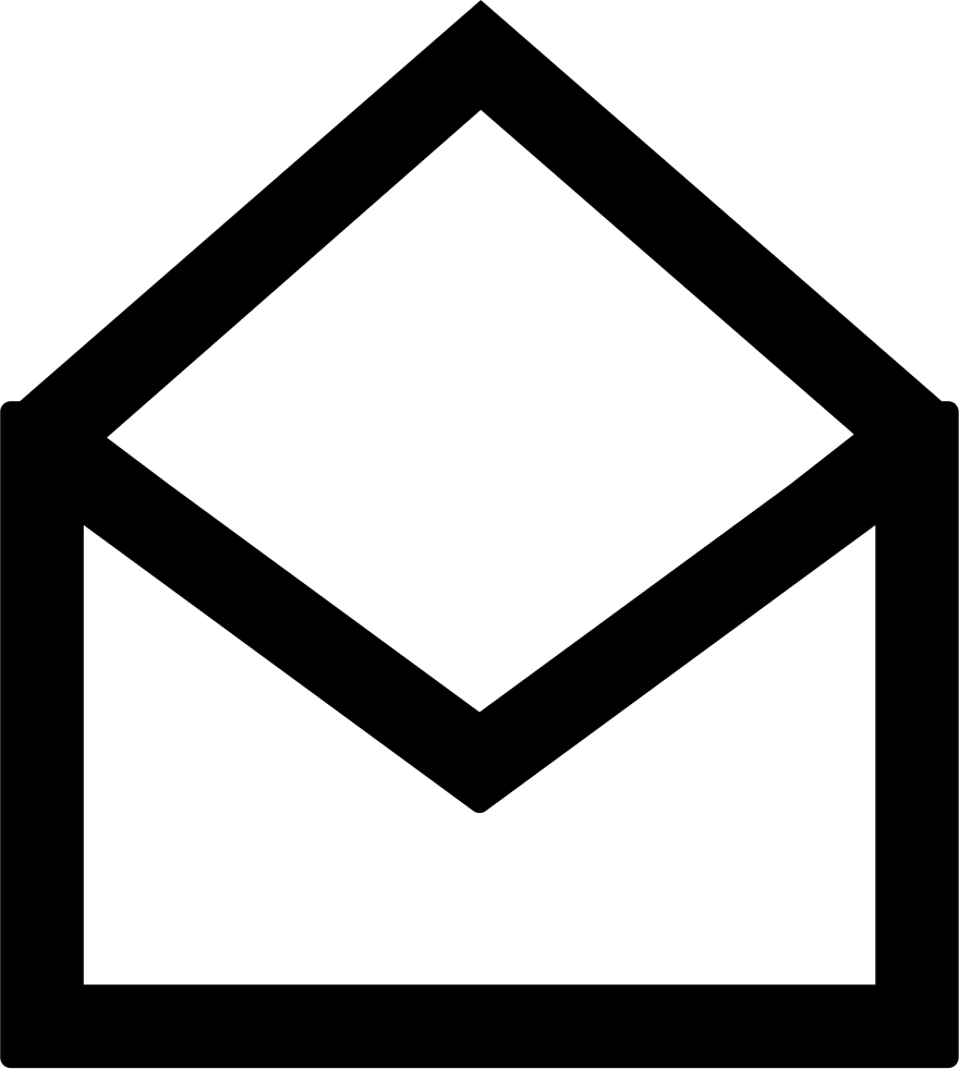 Mail clipart back envelope. Open symbol svg png
