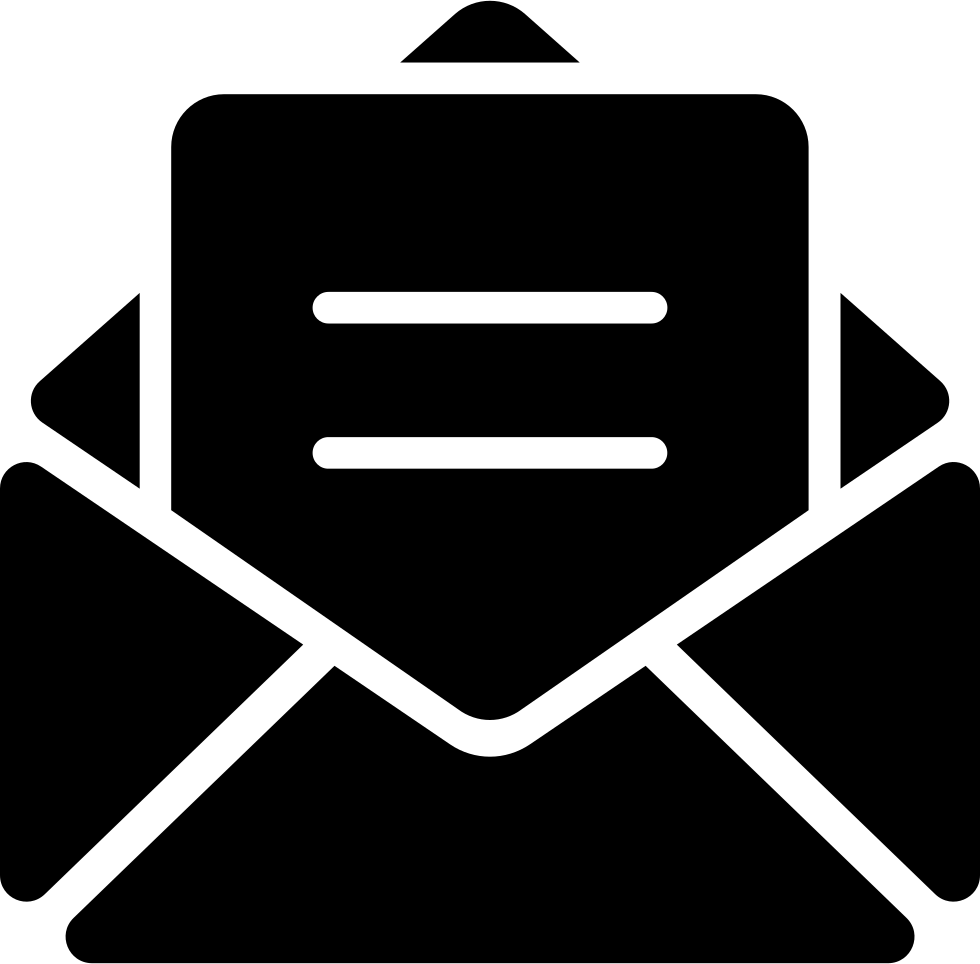 Email svg png icon. Mail clipart opened envelope