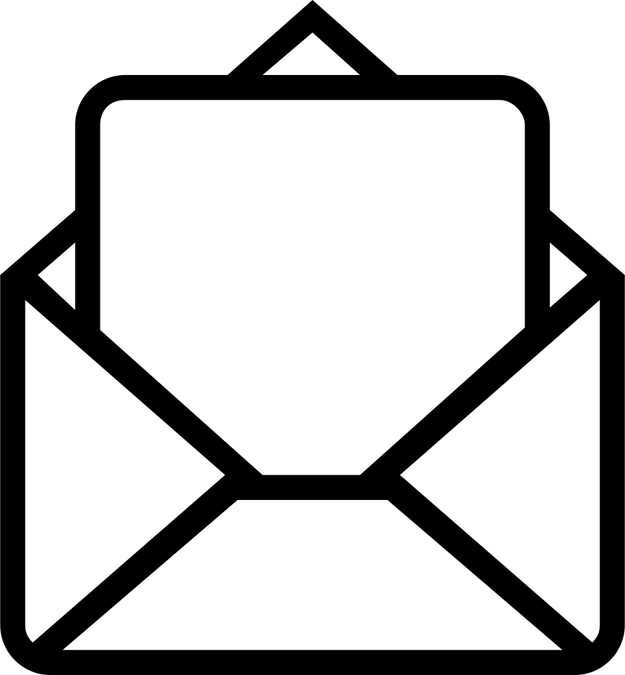 Mail outlined interface symbol. Envelope clipart opened envelope