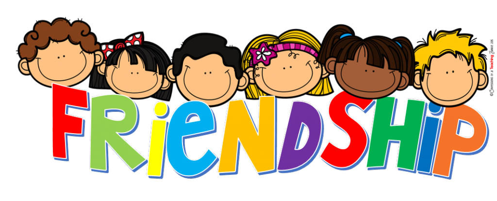 Learn english with fun. Friendship clipart multicultural