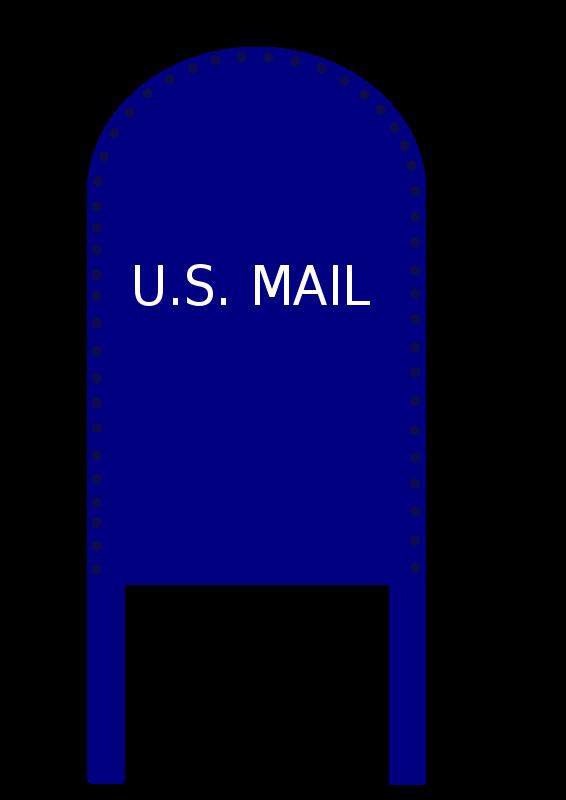 mailbox clipart blue mailbox
